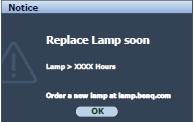 Замена лампы в проекторе BENQ W700